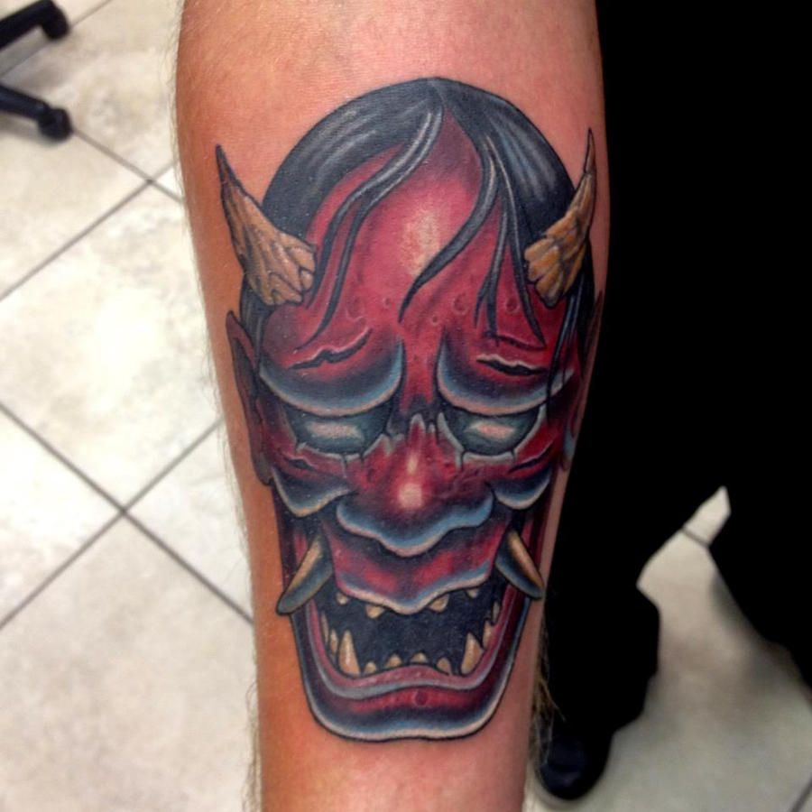 Oni Mask Tattoo: Oni Japanese Mask By Mikeashworthtattoos On DeviantArt