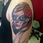Day of the Dead Tattoo by mike ashworth
