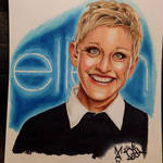 Ellen Degeneres Drawing done with Copic Markers