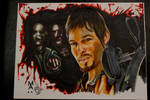 Daryl Dixon from the Walking Dead Marker drawing