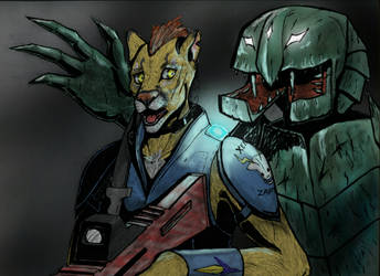 Alien attack AC #160 (fear) by Tikaaniwicker4