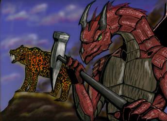 Dragon and lava bear by Tikaaniwicker4