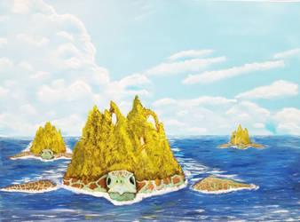 Giant Sea Turtles by Tikaaniwicker4