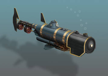 Steampunk Submarine by Walter-Vermeij