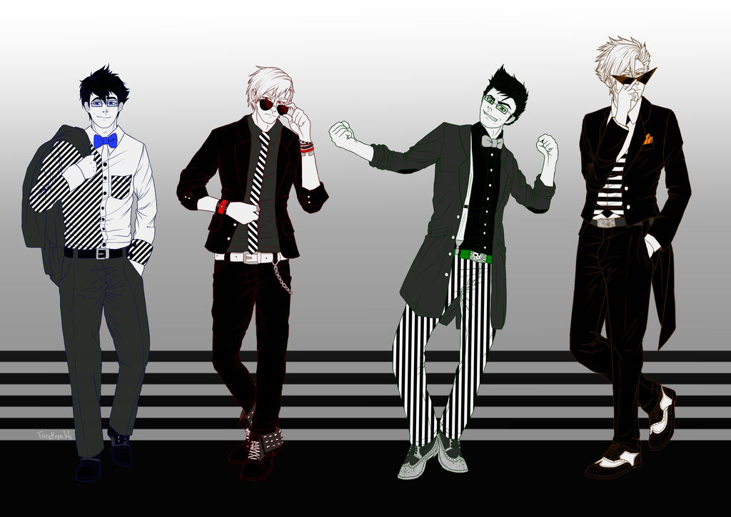 Striped Lads by TheeRoyalWe