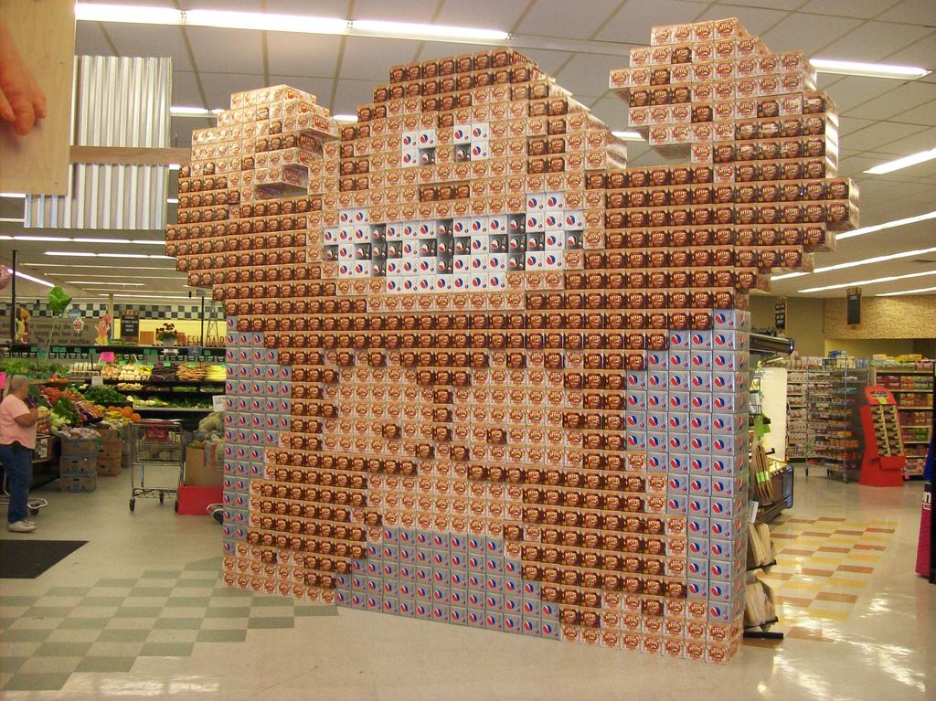 Donkey Kong Soda Display
