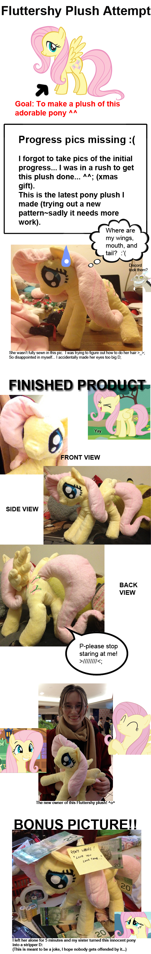 Fluttershy Plush Attempt by Kitara88