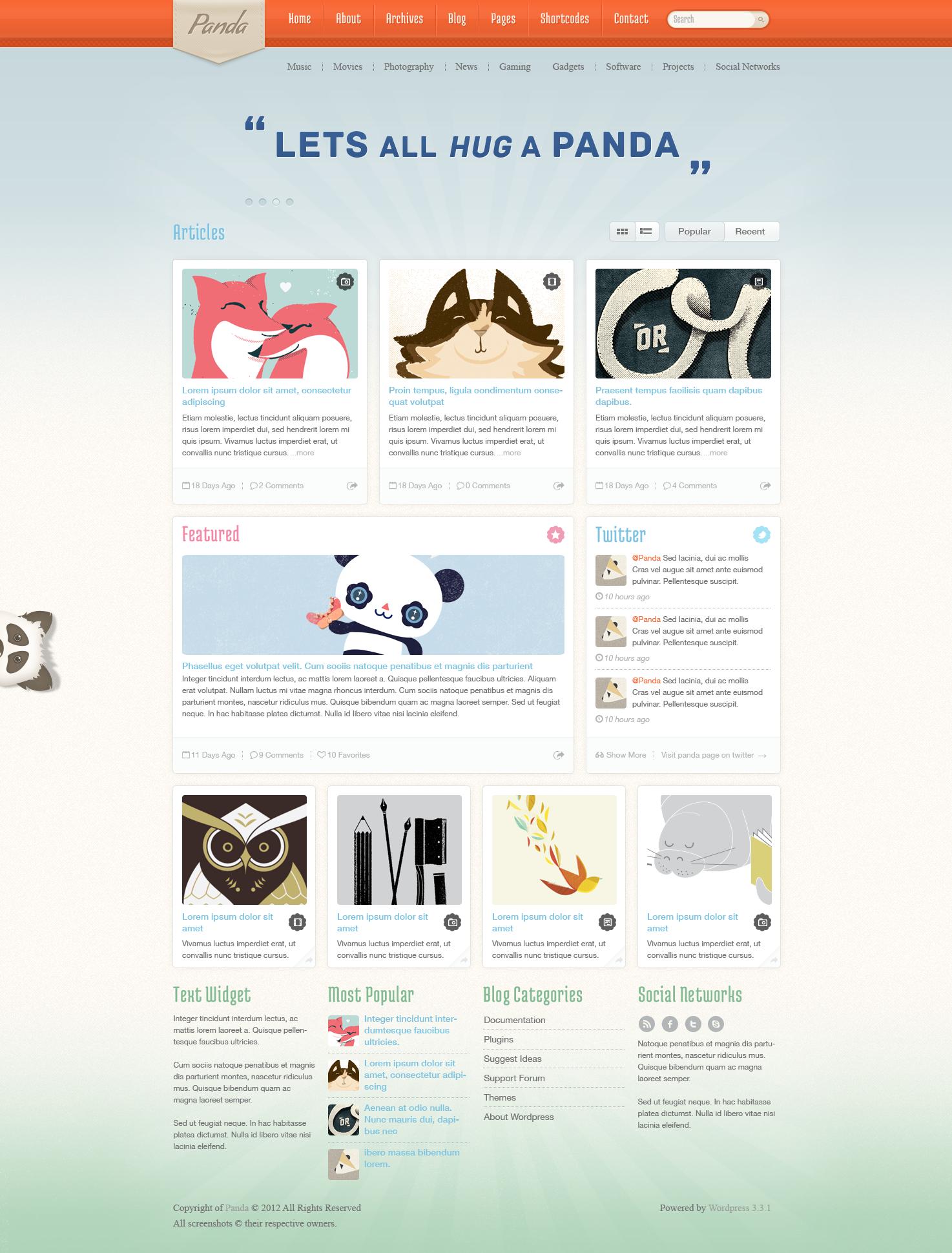 Panda - Magazine Blog