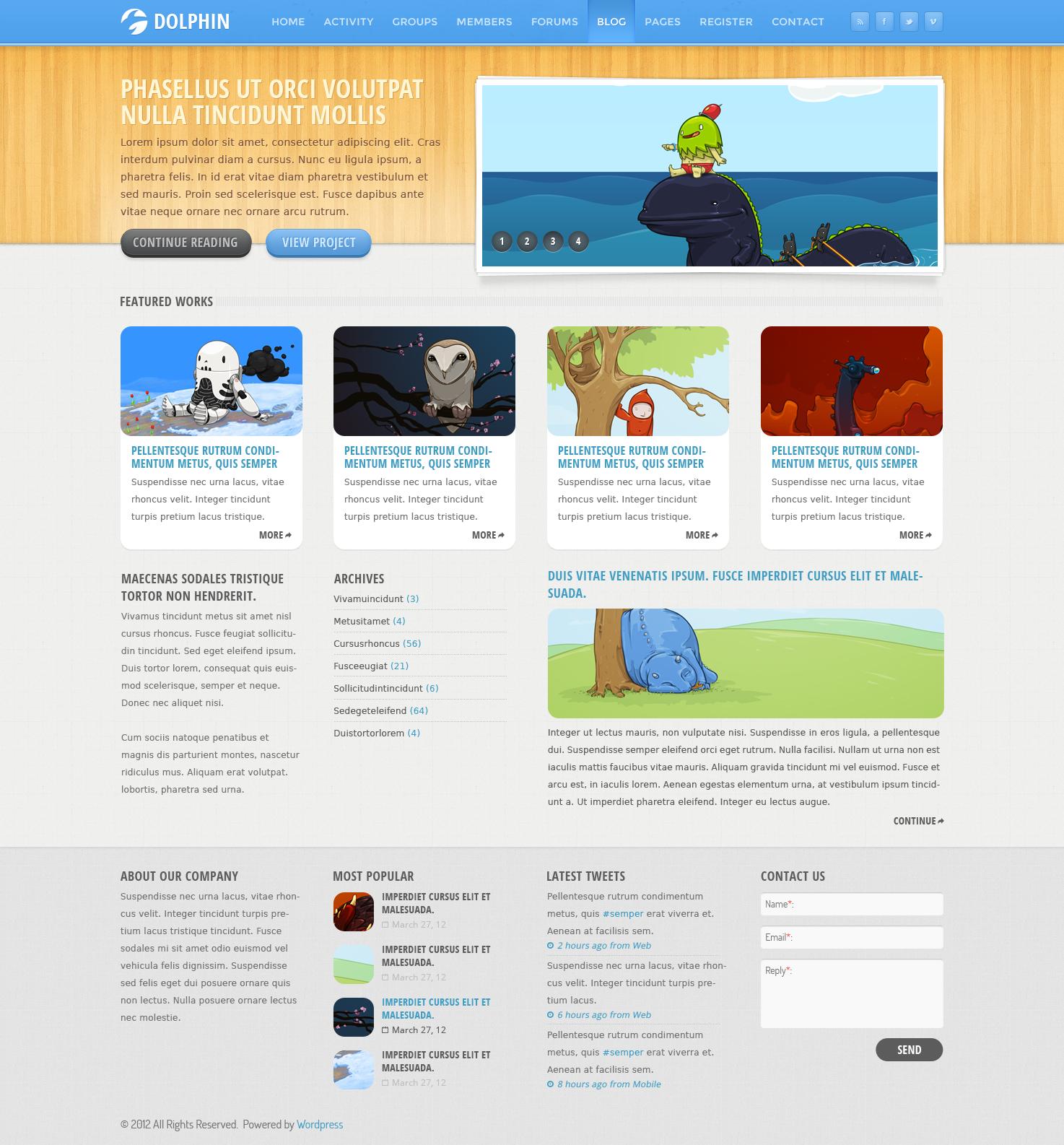 Dolphin Wordpress Theme