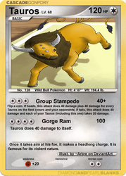 Tauros TCG Card by DragonRider-ofDA