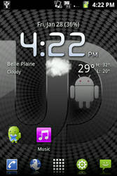 Homescreen with Ubuntdroid RC1