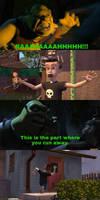 Shrek scares Sid
