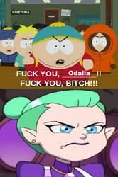 Eric Cartman flips off at Odalia Blight