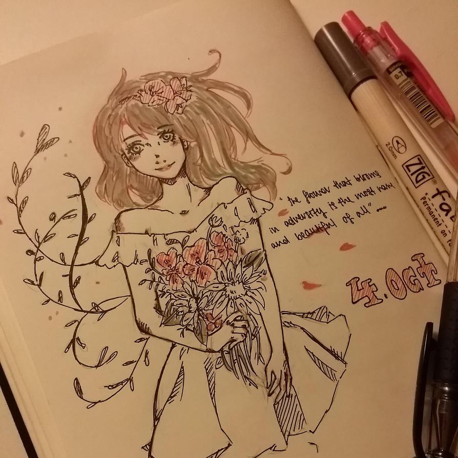 Day 04 : Flowers by Frenzydaydreamer11