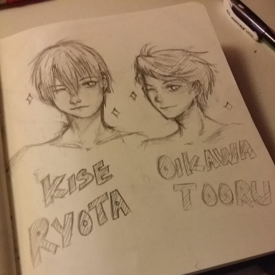 Kise and Oikawa by Frenzydaydreamer11