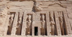 The Temple Of Hathor And Nefer