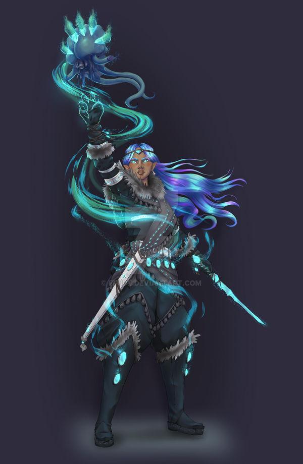 Ebony Illithid-bane - Half-elf Psionic