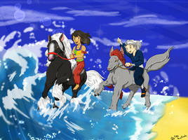 The Race! (OC Training Task #6 [Aren and Nadasa]) by KawaiiKiraKoala