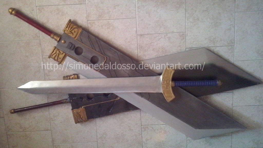 Zack Fair's Buster Swords and 2nd Class Sword by SimoneDaldosso