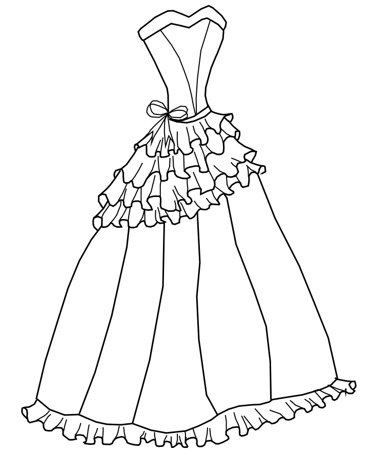 ball gown dress drawings - photo #11