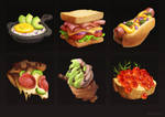 food painting + video process