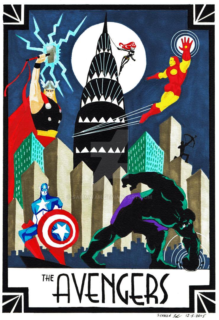 Art Deco Avengers by sammwah on DeviantArt