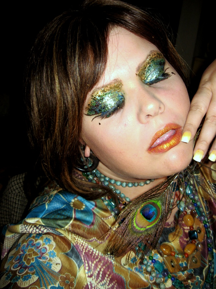 peacock makeup 2 by kukuramutta on DeviantArt
