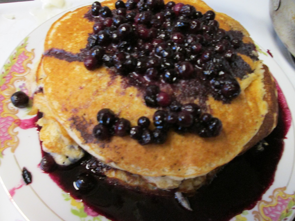 Whole Grain Pancakes With Blueberry Syrup by kukuramutta on DeviantArt