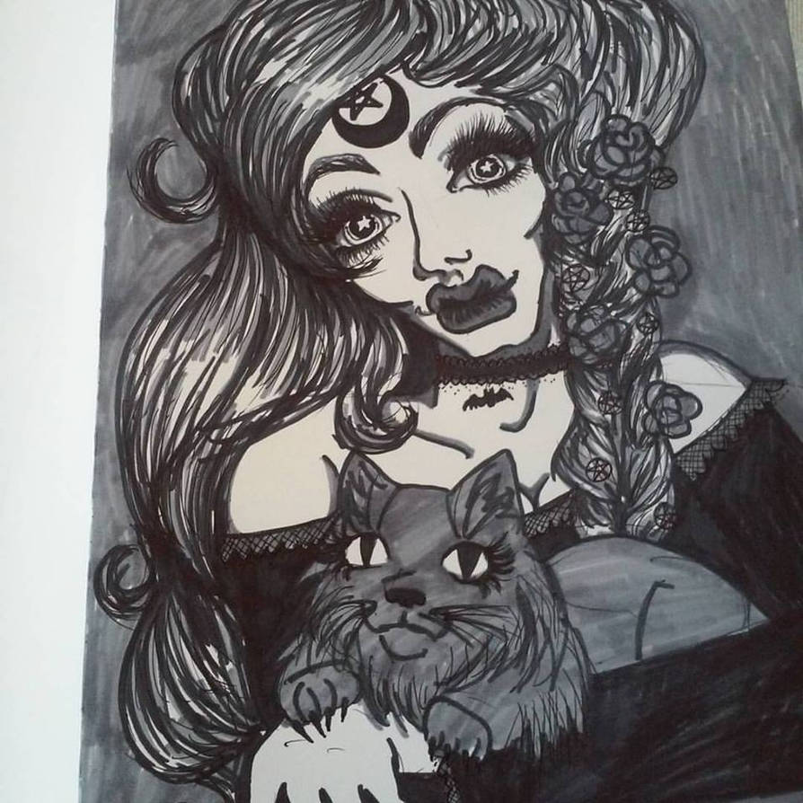 Witch Queen Black and White