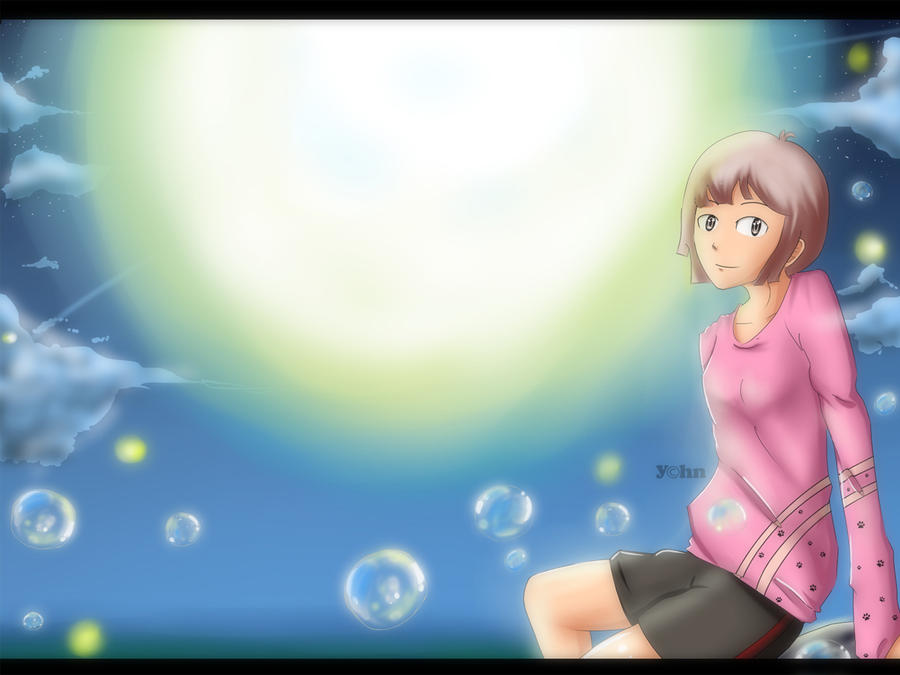 play bubbles with Fireflies. by YCHN