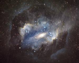 Nebula Wormhole Background