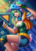 Fan Art LOL : Arcade Riven by PuddingzZ
