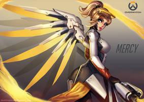 Mercy, Overwatch Fanart by PuddingzZ