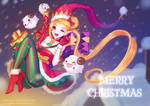 Merry X'mas 2017 Fan art Ambitious elf Jinx by PuddingzZ
