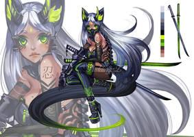 Kitsune Girl Adoptable #49 [closed ty!] by PuddingzZ
