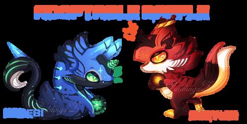 Adoptable Raffle [Koryubi x Kohebi] closed ty! by PuddingzZ