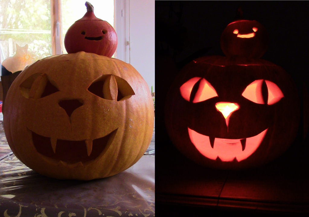 Attempt at Pumpkin carving by Oridons