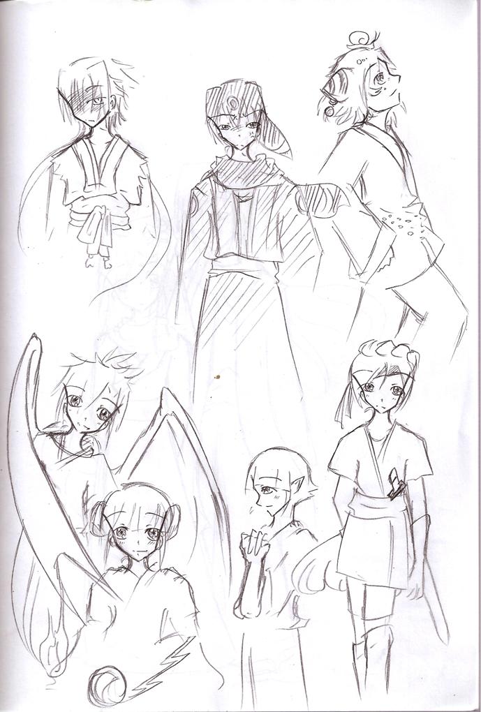 Pokimono Sketchdump 1 by b0409d
