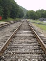 Railroad tracks by Irie-Stock