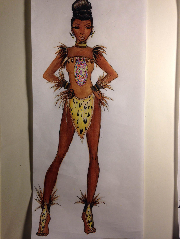 Как сделать костюм африканца своими руками
