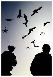 Sunrise with Birds by j0nzj
