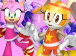 Amy Rose and Cream the Rabbit Wallpaper