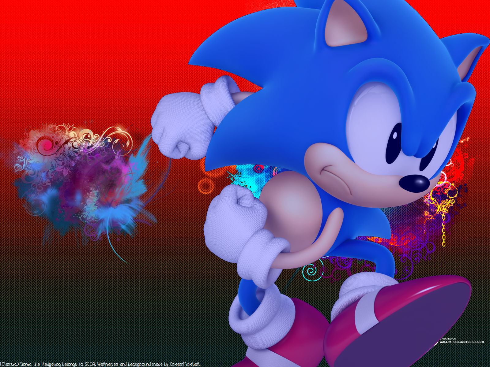 Classic Sonic Wallpaper By Creamfireballwps On Deviantart