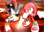 Knuckles and Shadow Wallpaper