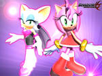 Amy and Rouge Wallpaper