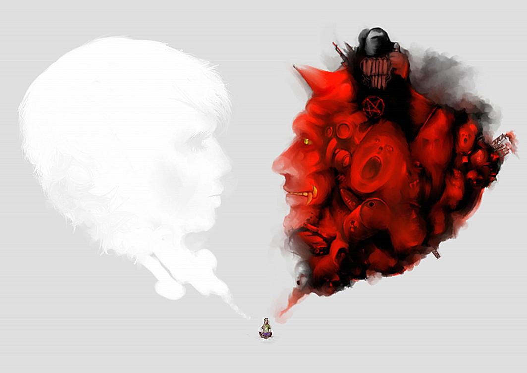 Good vs Evil by Wakoe