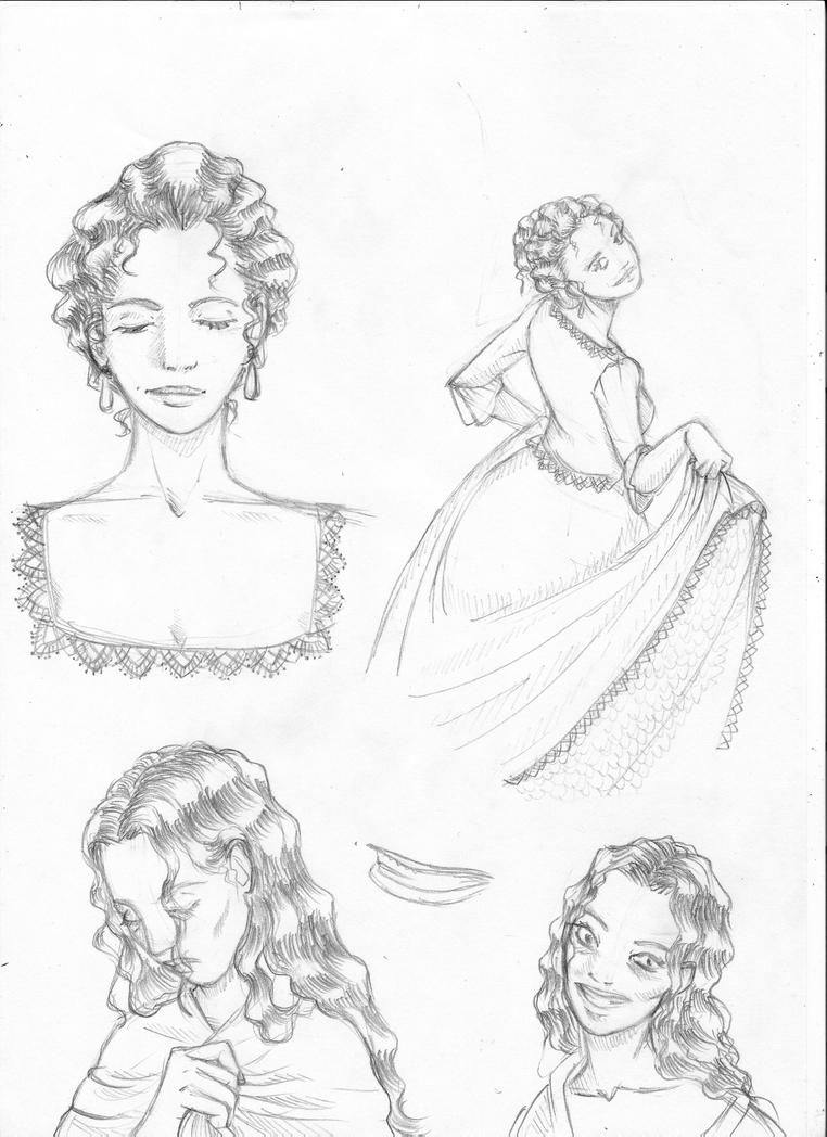 Character study- Berenice 1 by A-Border