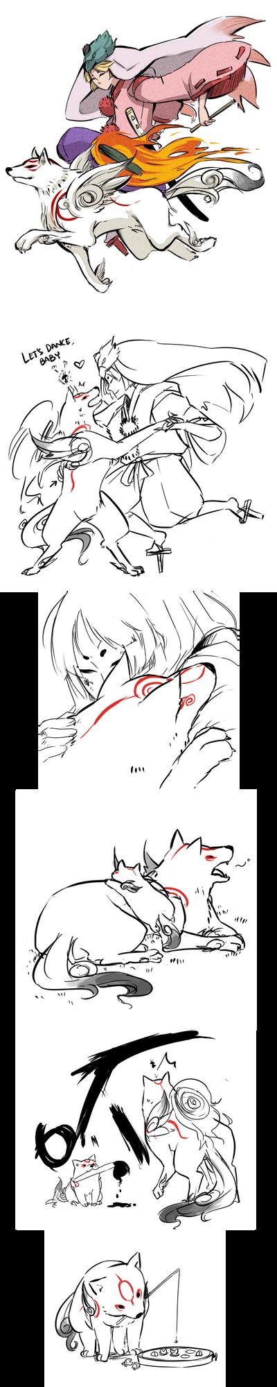 Okami+Okamiden by ryo-hakkai