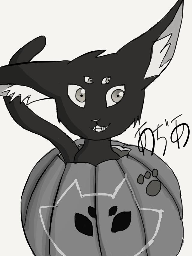 Pumpkin cat by arseniccatnip88