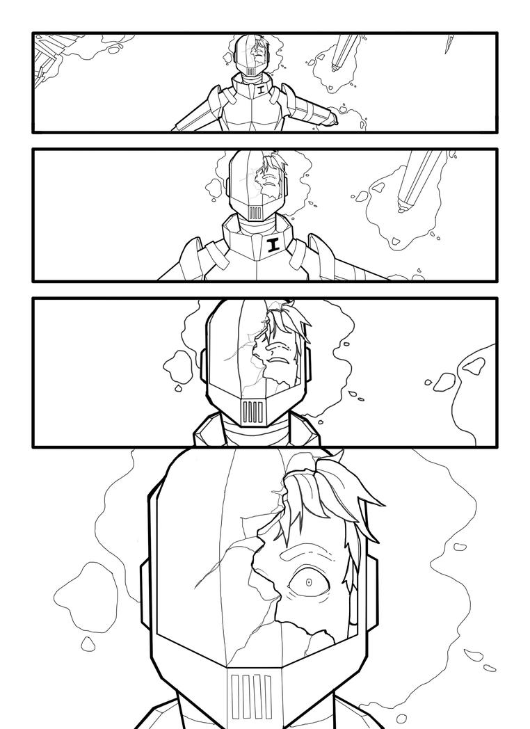 Page One uncolored w/no Text by REMWalker